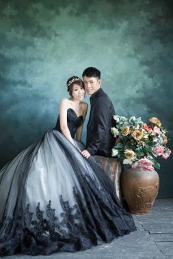 時尚黑禮服婚紗照-台北婚攝Mosquito