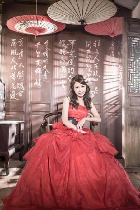 中式建築婚紗照-台北婚攝文子