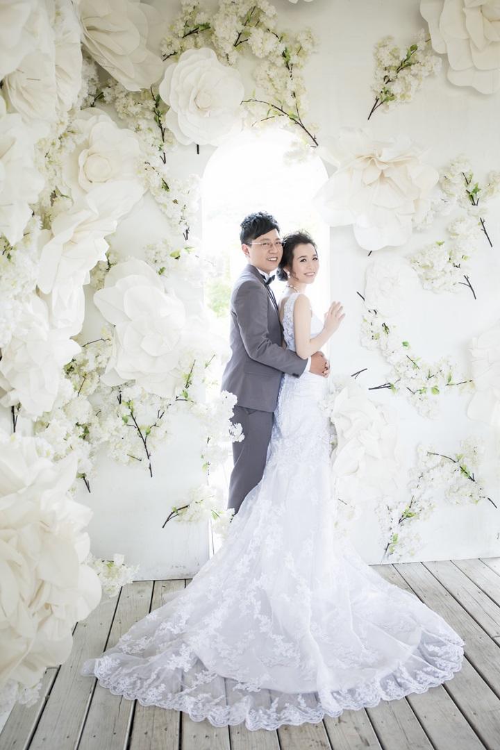 浪漫花牆婚紗照-台北婚攝文子